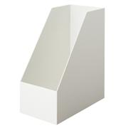無印・ポリプロピレンスタンドファイルボックス・ワイド・A4用・ホワイトグレー
